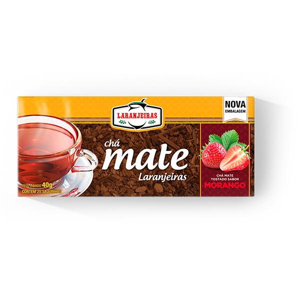 Chá tostado morango